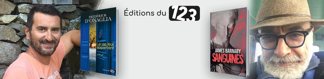 Deux nouveaux auteurs aux Editions du 123