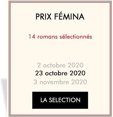 Auteurs en lice pour le Prix Femina 2019
