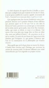 La Belle Deception Du Regard - 4ème de couverture - Format classique