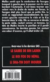 Sas T.147 ; La Manip Du Karin A - 4ème de couverture - Format classique