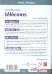 Les métiers des télécoms - 4ème de couverture - Format classique