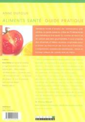 Aliments Sante - 4ème de couverture - Format classique