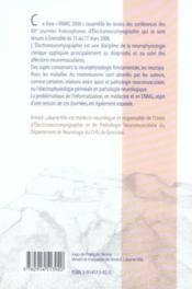 Enmg 2006 15emes journees francophones d'electro-neuromyographie - 4ème de couverture - Format classique