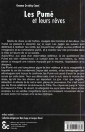 Les pume et leurs reves ; etude d'un groupe indien des plaines du venezuela - 4ème de couverture - Format classique