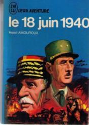 Le 18 juin 1940 - Couverture - Format classique