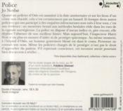 Police cd - 4ème de couverture - Format classique