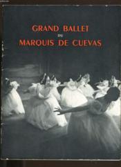 Programme Du Grand Ballet Du Marquis De Cuevas. - Couverture - Format classique