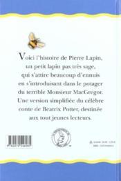 Le conte de pierre lapin - 4ème de couverture - Format classique
