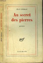 Au Secret Des Pierres - Couverture - Format classique