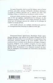 La bataille des monts nementcha, algerie, 1954-1962 ; un cas concret de guerre subversive et contre-subversive - 4ème de couverture - Format classique