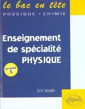 Enseignement De Specialite Physique Terminale S - Intérieur - Format classique
