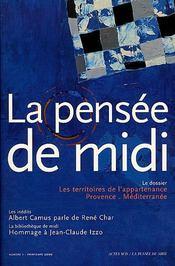REVUE LA PENSEE DE MIDI T.1 ; les territoires de l'appartenance provence-méditerrannée - Intérieur - Format classique