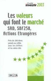 Les Valeurs Qui Font Le Marche Srd Sbf 250 Actions Etrangeres - Intérieur - Format classique