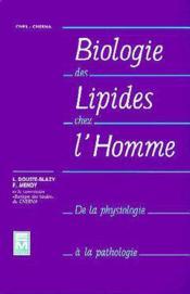 Biologie des lipides chez l homme - Couverture - Format classique