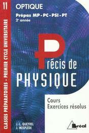 Precis de physique t.11 ; optique mp-pc-psi-pt - Intérieur - Format classique