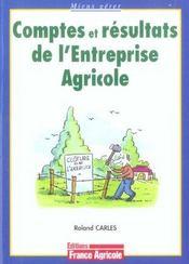Comptes et resultats de l'entreprise agricole - Intérieur - Format classique