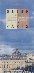 Guide De L'Architecture Des Monuments De Paris - Couverture - Format classique
