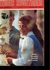 Etudes Sovietiques - Revue Mensuelle - Octobre 1975 - N° 331 - Berlin : Congres Mondial Des Femmes - Quinquennat - Anniversaires - Anne De La Femme - Urss-France - Couverture - Format classique