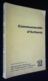 Communautés d'enfants - Couverture - Format classique