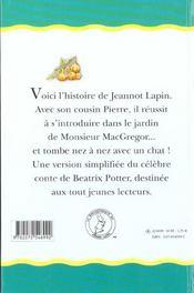 Le conte de jeannot lapin - 4ème de couverture - Format classique
