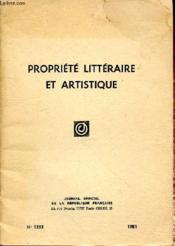 Propriete Litteraire Et Artistique N°1255 - Couverture - Format classique