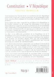 La Constitution De La V Republique ; Textes Jurisprudence Pratique - 4ème de couverture - Format classique