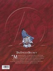 Le triangle secret t.5 ; l'infâme mensonge - 4ème de couverture - Format classique