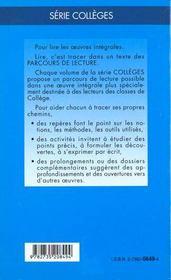 Les fourberies de Scapin, de Molière - 4ème de couverture - Format classique
