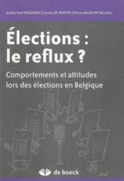 Élections : le reflux - Couverture - Format classique