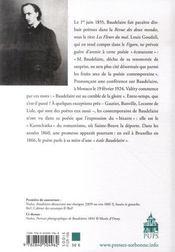 Baudelaire ; un demi-siècle de lectures des fleurs du mal - 4ème de couverture - Format classique