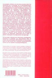 Demences aspects cliniques et neuropsychologiques - 4ème de couverture - Format classique
