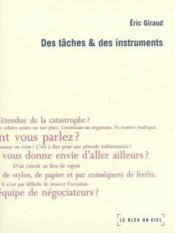 Des tâches et des instruments - Couverture - Format classique