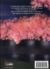 Blood alone t.3 - 4ème de couverture - Format classique