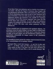 Les mystiques rhénans ; Eckhart, Tauler, Suso, anthologie - 4ème de couverture - Format classique