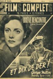 2 Films Complets N°21 - Breve Rencontre Et Dix De Der ! - Couverture - Format classique