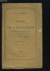 Emile Ou De L'Education - Reimprime D'Apres Les Meilleurs Textes. - Couverture - Format classique