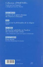 REVUE LES ETUDES PHILOSOPHIQUES N.2001/3 ; Schlick et le tournant de la philosophie - 4ème de couverture - Format classique