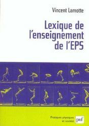 Lexique de l'enseignement de l'EPS - Intérieur - Format classique