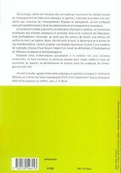 Lexique de l'enseignement de l'EPS - 4ème de couverture - Format classique