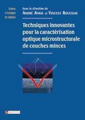 Techniques innovantes pour la caractérisation optique microstructurale de couches minces - Intérieur - Format classique