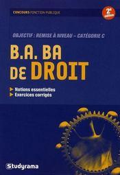 B.A. BA de droit ; catégorie C ; remise à niveau (2e édition) - Intérieur - Format classique