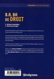 B.A. BA de droit ; catégorie C ; remise à niveau (2e édition) - 4ème de couverture - Format classique
