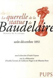 La querelle de la statue de baudelaire, août-décembre 1892 - Intérieur - Format classique