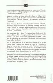 Le Roman De Jesus T.1 ; De Bethleem Au Golgotha ; Le Fils De L'Homme - 4ème de couverture - Format classique