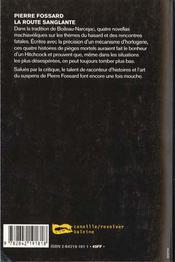 La Route Sanglante - 4ème de couverture - Format classique