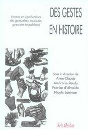 Gestes En Histoire (Des) - Intérieur - Format classique