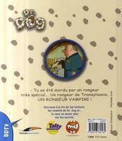 Docteur dog ; le rongeur vampire - 4ème de couverture - Format classique