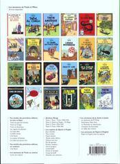 Les aventures de Tintin T.17 ; on a marché sur la lune - 4ème de couverture - Format classique