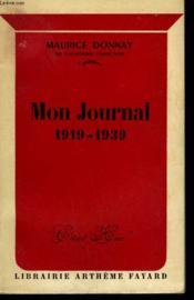 Mon Journal 1919-1939. - Couverture - Format classique