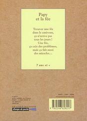 Papy et la fee - 4ème de couverture - Format classique